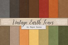 Vintage earth toned paper textures