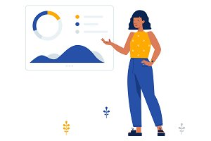 Business analyst -Scene illustration
