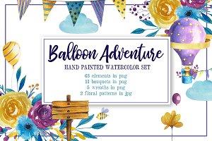 Balloon Adventure Watercolor Set