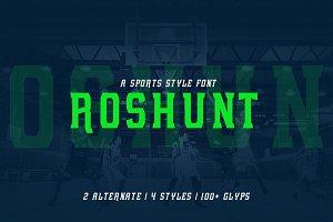Roshunt - NFC Font Family ( 50%OFF )