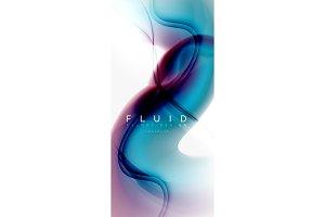 Color flowing wave, trendy liquid