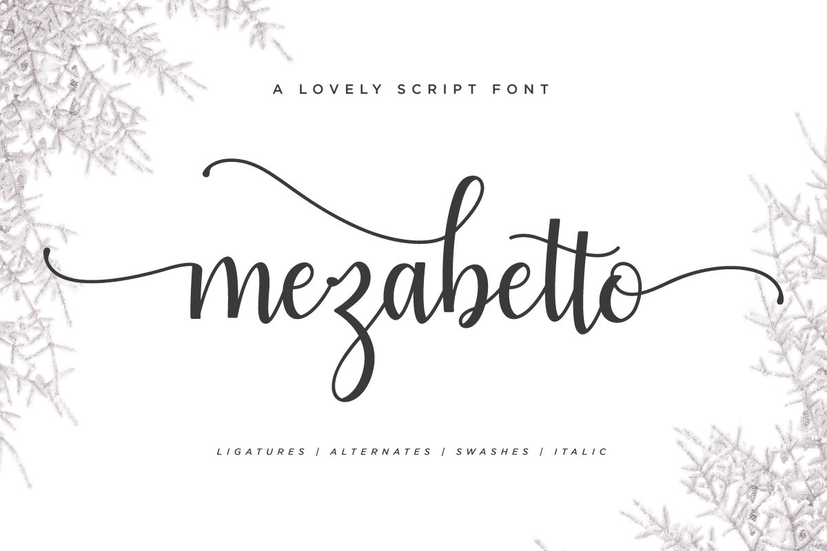 Mezabetto   Elegant Script Font