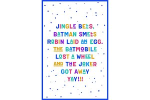 Jingle bells. Text of song Jingle