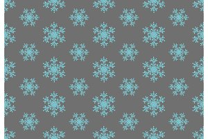 Blue snowflakes seamless pattern.