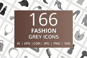 166 Fashion Greyscale Icons