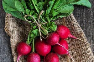 Fresh purple radish