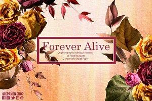 Forever Alive Floral Clip Art