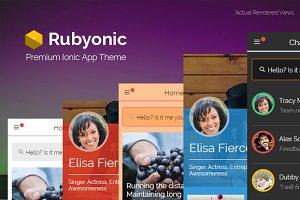 Rubyonic - Ionic Premium app theme