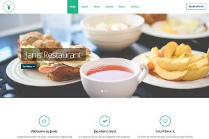 Janis - Cafe & Restaurant Template