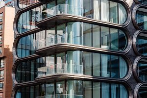 Modern residential building designed