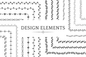 divider design element vectors