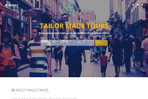 Wales - Travel Agency Landing Page