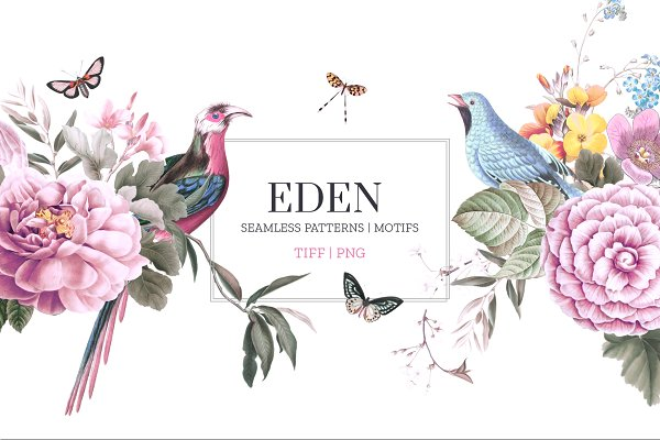 Patterns: TSTUDIO - EDEN, Essence of elegance.