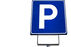 Motor car parking sign