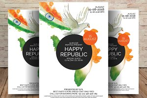 Happy Indian Republic Day Flyer