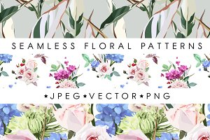 Seamless floral pattern (EPS)