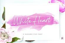White Heart Font