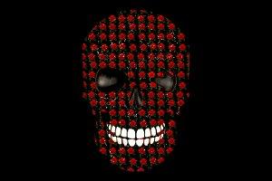 Rose Skull t-shirt design