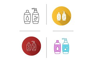 Shampoo and bath foam icon