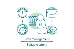 Time management concept icon