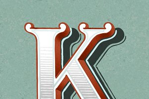 Letter K Font Styles Photos Graphics Fonts Themes Templates