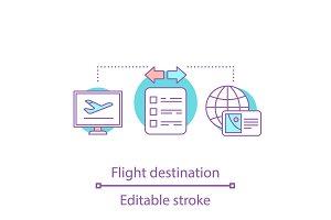 Flight tickets online booking icon