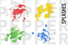 Watercolor Splash, Drops, Grunge