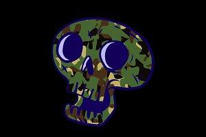Camo Skull design