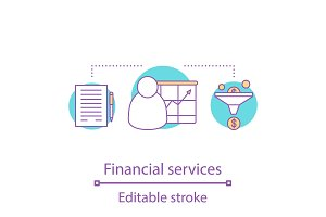 Financial service concept icon