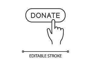 Donate button click linear icon