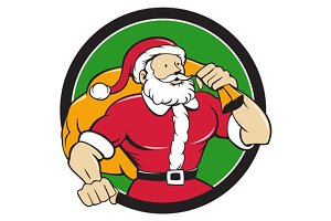Super Santa Claus Carrying Sack Circ