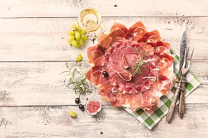 Traditional Spanish ham