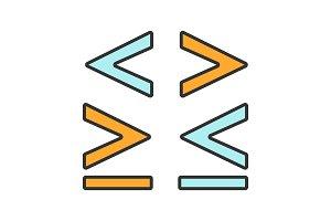Math symbols color icon