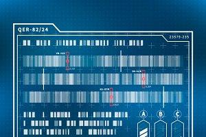 Futuristic science chart concept