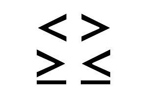 Math symbols glyph icon