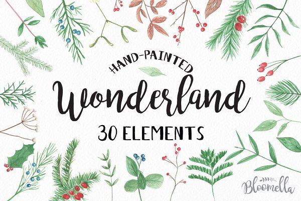 Wonderland Festive Xmas Clipart
