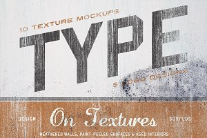 Type On Textures (+BONUS logos)