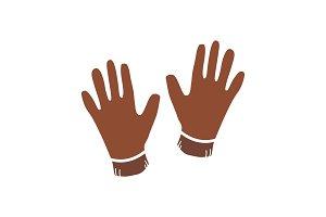 Gloves glyph color icon
