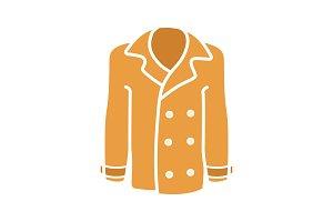 Men's coat flat glyph color icon