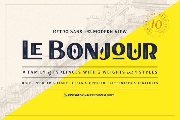 Fonts: Vintage Voyage Design Co. - Le Bonjour