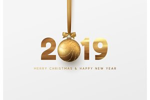 Gold 2019 New Year