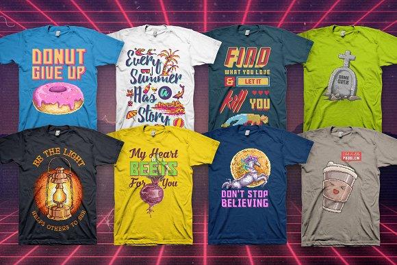 a80c8137b Back To Retro 100 T-Shirt Designs ~ Illustrations ~ Creative Market