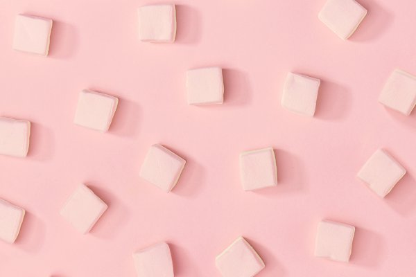 Stock Photos: Valeria Art - White marshmallows pattern on pink