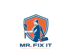 Mr. Fix It General Home Repair Logo