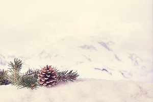 Winter Christmas background.