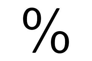 Percent glyph icon