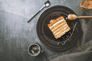 Sweet homemade honey cake
