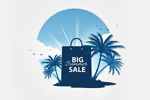 Big summer sale vector tempate