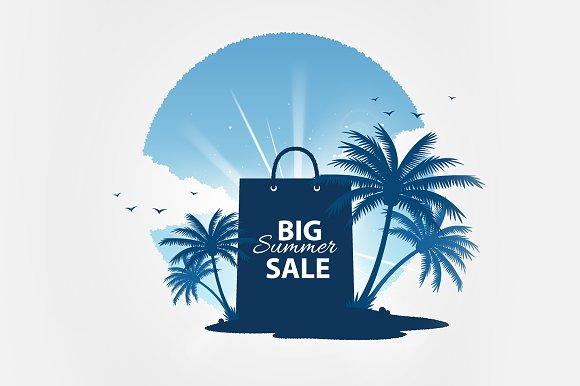 Big summer sale vector tempate in Flyer Templates