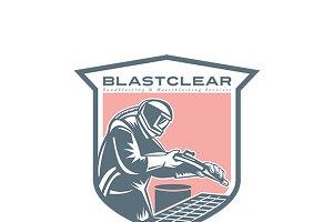 Sandblaster Sandblasting Logo